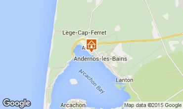 Kaart Andernos les Bains Huis 10183