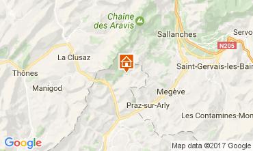 Kaart La Giettaz en Aravis Appartement 107658