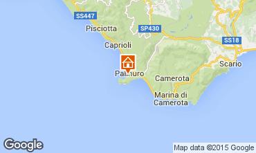 Kaart Palinuro Appartement 76514