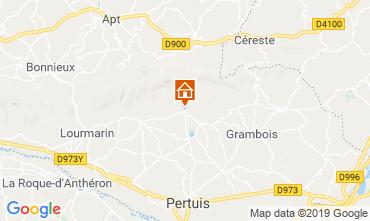 Kaart Lourmarin Vakantiehuis 119717