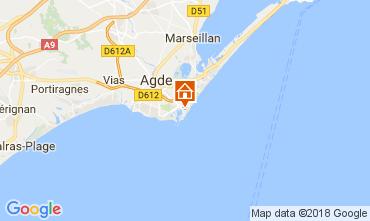 Kaart Cap d'Agde Appartement 112976