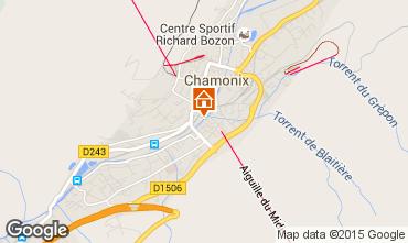 Kaart Chamonix Mont-Blanc Appartement 91382