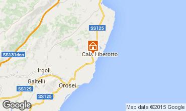 Kaart Cala Liberotto Appartement 71344