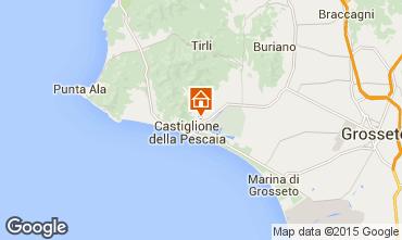 Kaart Castiglione della Pescaia Appartement 74791