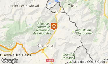 Kaart Chamonix Mont-Blanc Appartement 650