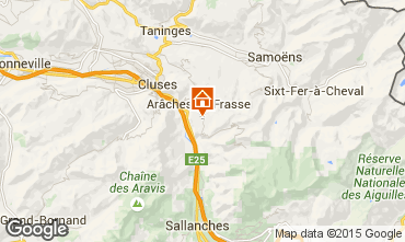 Kaart Les Carroz d'Araches Chalet 82037
