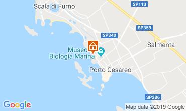 Kaart Porto Cesareo Appartement 86647