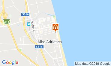 Kaart Alba Adriatica Appartement 118420