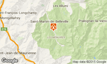 Kaart Les Menuires Chalet 41939