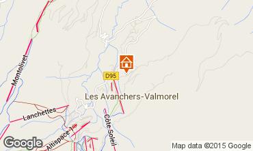 Kaart Valmorel Appartement 76576