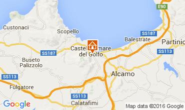 Kaart Castellammare del Golfo Appartement 61940