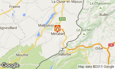 Kaart Métabief Appartement 63948