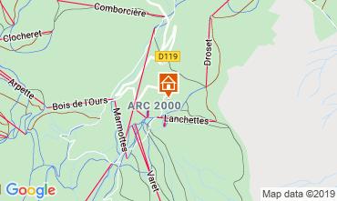 Kaart Les Arcs Studio 73833