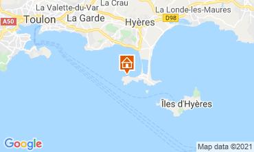 Kaart Hyères Appartement 86065