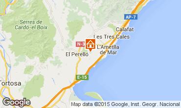 Kaart La Ametlla de Mar Vakantiehuis 96099