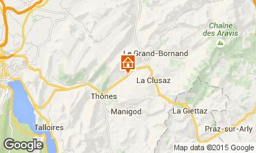 Kaart La Clusaz Appartement 78176