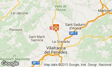 Kaart Barcelona Vakantiehuis 17009