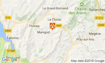 Kaart Manigod-Croix Fry/L'étale-Merdassier Appartement 115080