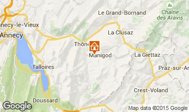 Kaart La Clusaz Chalet 60510