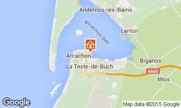 Kaart Arcachon Studio 73087