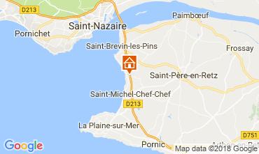 Kaart Saint Brevin les Pins Stacaravan 112356