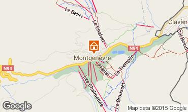 Kaart Montgenevre Huis 17180