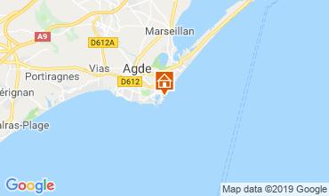 Kaart Cap d'Agde Appartement 33425