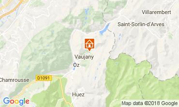 Kaart Alpe d'Huez Chalet 113371