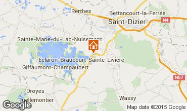 Kaart Éclaron-Braucourt-Sainte-Livière Vakantiehuis 75307