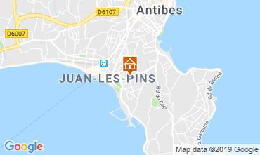 Kaart Juan les Pins Appartement 16441