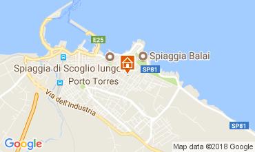 Kaart Porto Torres Appartement 64765