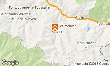 Kaart Valloire Chalet 23134