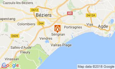 Kaart Sérignan Huis 114493