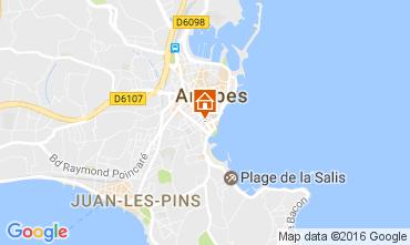 Kaart Antibes Appartement 107452