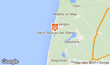 Kaart Vieux Boucau Appartement 54490