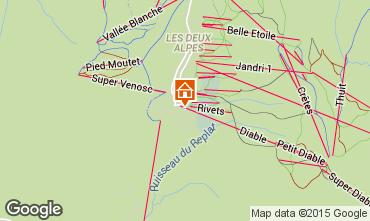Kaart Les 2 Alpes Appartement 91727