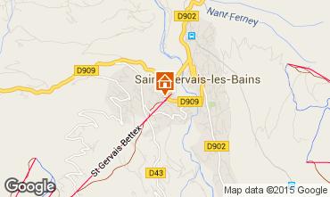 Kaart Saint Gervais Mont-Blanc Studio 2546