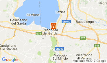 Kaart Peschiera del Garda Appartement 70850