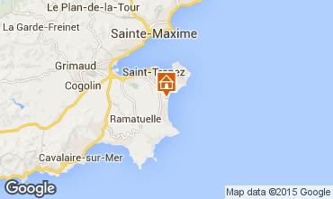 Kaart Saint Tropez Stacaravan 97399