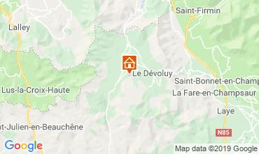 Kaart Superdévoluy- La Joue du Loup Appartement 112558