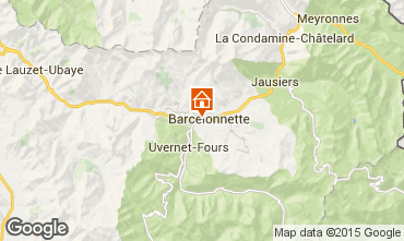 Kaart Barcelonnette Chalet 68406