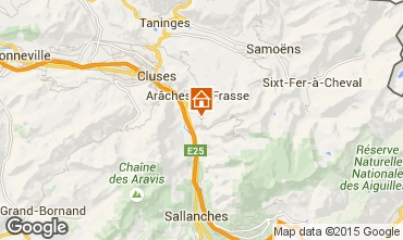 Kaart Les Carroz d'Araches Chalet 90862