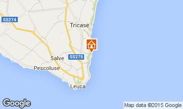 Kaart Santa Maria di Leuca Appartement 51532