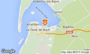 Kaart Arcachon Stacaravan 76641