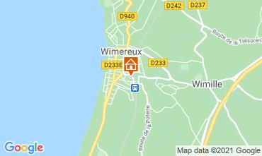 Kaart Wimereux Vakantiehuis 95721