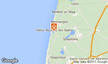 Kaart Vieux Boucau Appartement 79430