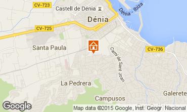 Kaart Dénia Appartement 75156