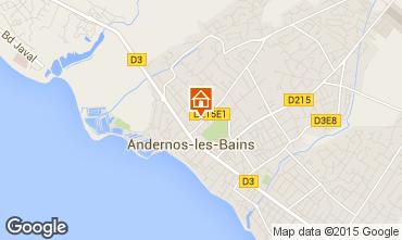 Kaart Andernos les Bains Appartement 62761