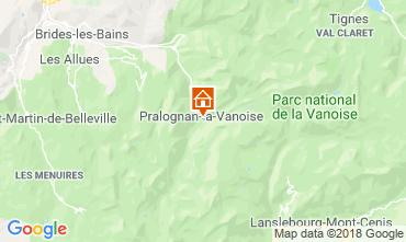 Kaart Pralognan la Vanoise Appartement 38850