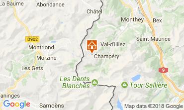 Kaart Les Crosets Appartement 33579